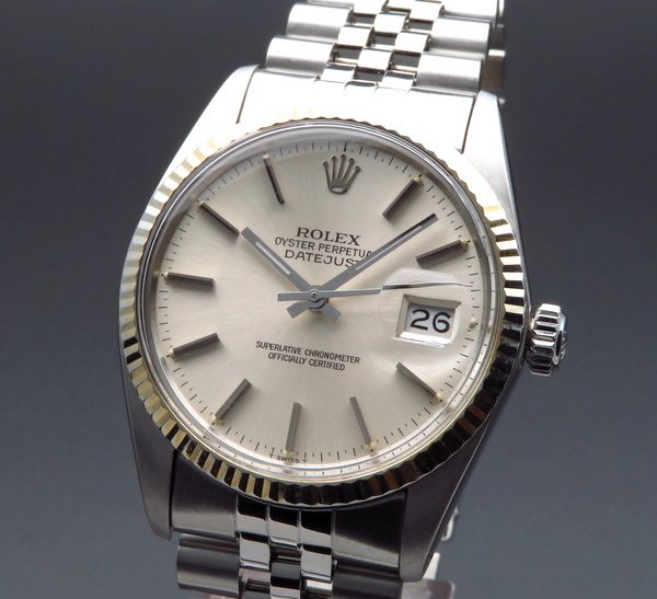 ロレックス - Antique Rolex -   1981年製 USED ロレックス デイトジャスト 16014 WGベゼル 新品仕上 CAL3035【OH済】