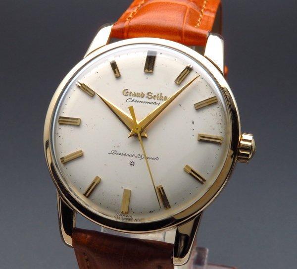 売り切れ 1963年 アンティーク グランドセイコー ファースト J14070 手巻 14GF CAL3180希少【OH済】