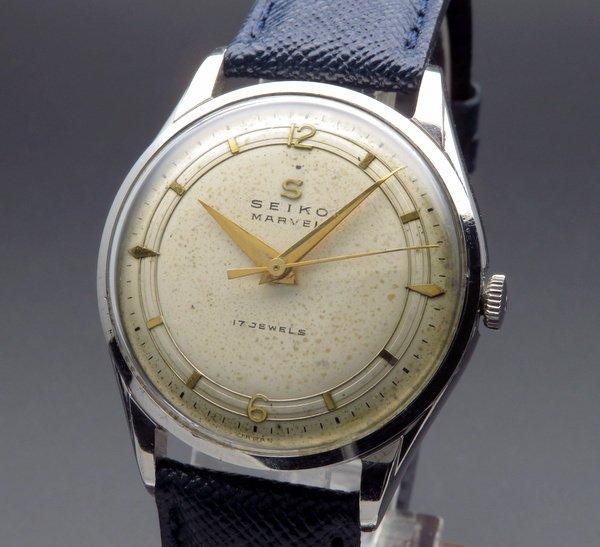 即納品  1958年製 アンティーク セイコー マーベル Sマーク 17石 手巻  Sマーク 男女兼用【OH済】