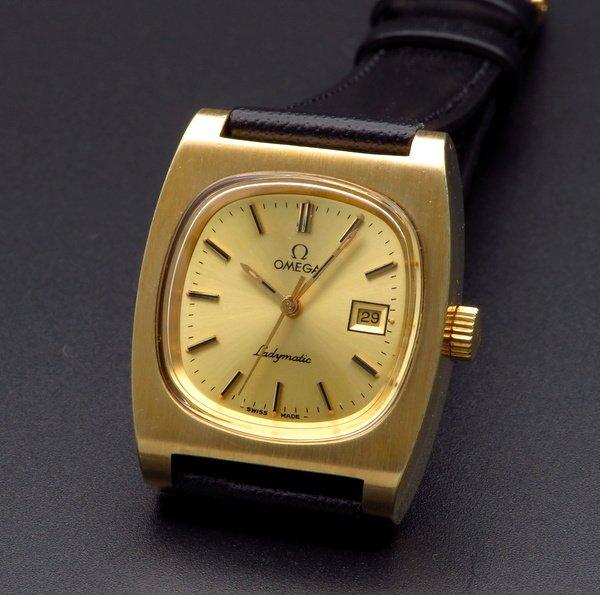 即納品  1973年 オメガ アンティーク cal683 レディマチック 自動 ゴールドキャップ レディース【OH済】