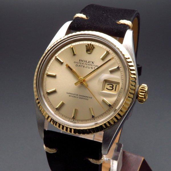 即納品  1967年 アンティーク ロレックス デイトジャスト 1601 YGベゼル 【OH済】