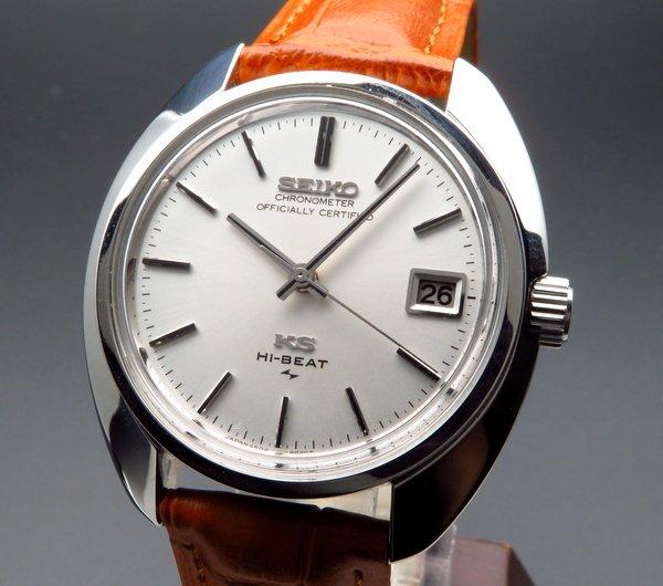 セイコー - Antique Seiko -    完売 1970年製 アンティーク キング セイコー クロノメーター表記 4520-8010 45KS ハイビート メダル付 手巻【OH済】