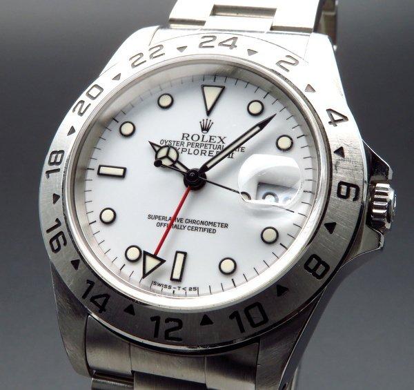 価格別  1995年 ロレックス 16570 エクスプローラー2 ホワイト W番 SS 中古 美品【OH済】