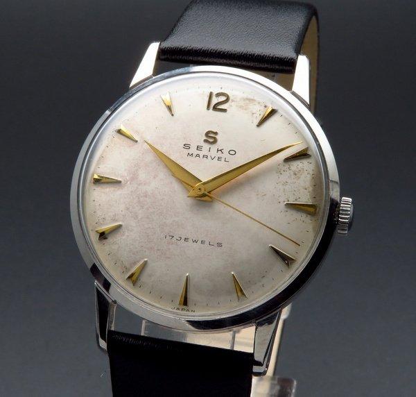 1958年製 アンティーク セイコー マーベル Sマーク 17石 手巻 クサビ 初期ロゴ【OH済】
