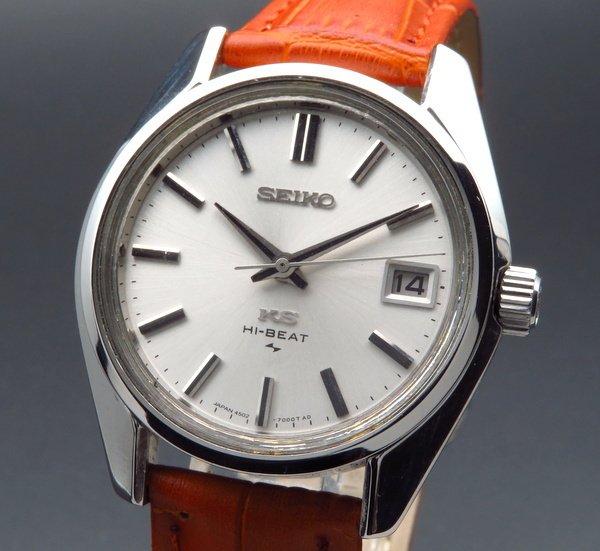 セイコー - Antique Seiko -   売り切れ 1969年 アンティーク キングセイコー ハイビート 4502-7000 日付 手巻【OH済】