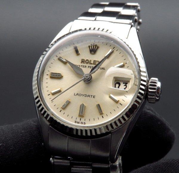 ロレックス - Antique Rolex -   完売 1962年 アンティーク ロレックス オイスター パーペチュアル デイト 6517 WGベゼル レディース【OH済】