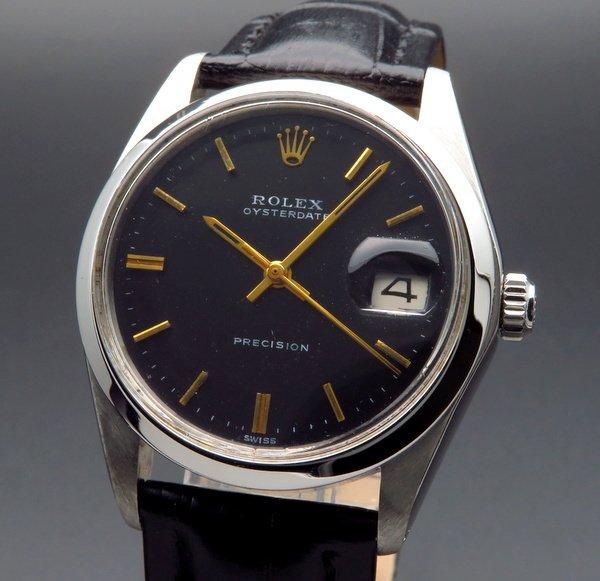 ロレックス - Antique Rolex -   完売 1967年 ロレックス アンティーク ref6694 オイスターデイト 手巻 希少金色 インデックス 日付【OH済】