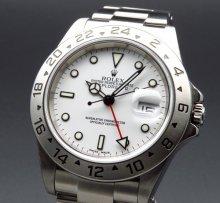 2001年 ロレックス 16570 エクスプローラー2 ホワイト K番 SS 中古 美品【OH済】