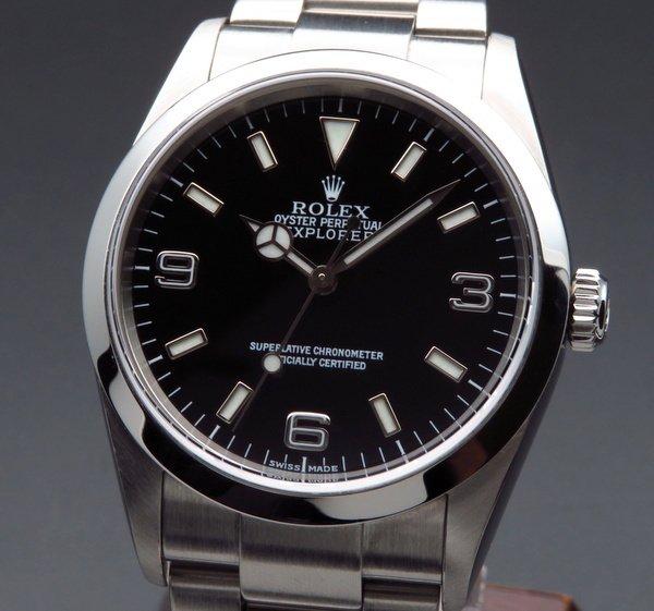 即納品  2001年 ROLEX ロレックス エクスプローラー� 114270 K番 中古・美品 ダブルロック【OH済】
