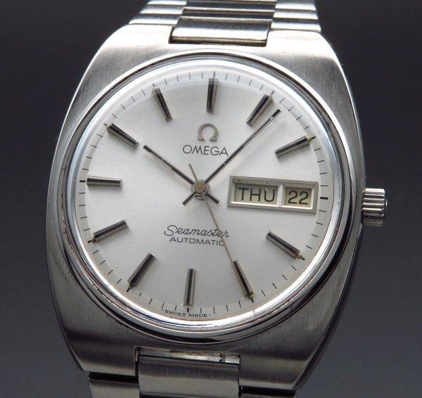 即納品  1982年 アンティーク オメガ シーマスター CAL.1020 デイデイト ブレス付【OH済】
