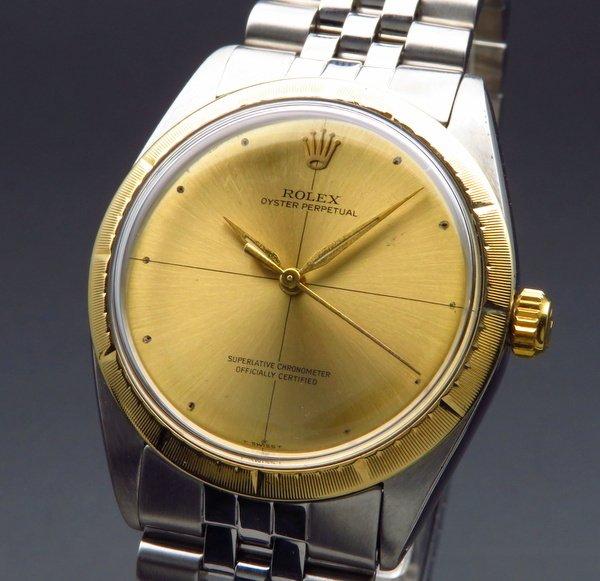 ロレックス - Antique Rolex -    売り切れ 1965年 ロレックス YGベゼル オイスターパーペチュアル ゼファー ZEPHER Ref.1008 希少【OH済】
