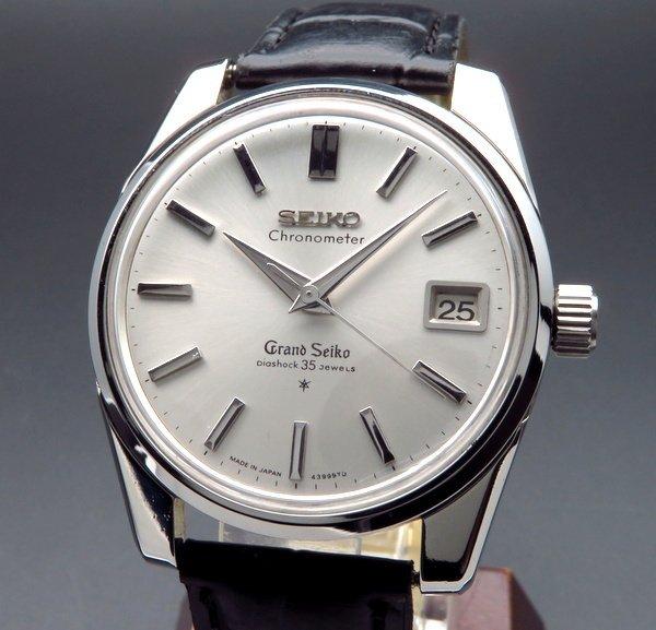 セイコー - Antique Seiko -   売り切れ 1965年製 グランドセイコー 5722-9990 アンティーク GS57・獅子メダル・クロノメーター表記・希少【OH済】