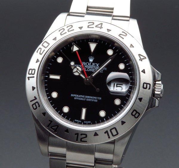 即納品  2001年頃 ロレックス 16570 エクスプローラー2 ブラック K番 SS 中古 美品 新品仕上【OH済】