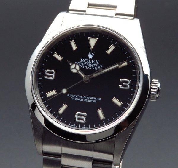ロレックス - Antique Rolex -   1999年 ROLEX ロレックス エクスプローラー� 14270 A番 中古・美品 ダブルロック 新品仕上【OH済】