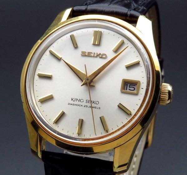 即納品  【SALE】1965年製 キング セイコー アンティーク 4402-8000 盾メダル ゴールドキャップ 手巻 希少【OH済】