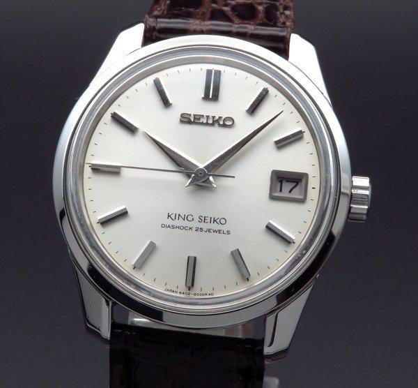 セイコー - Antique Seiko -   売り切れ1966年製 キング セイコー アンティーク 4402-8000 盾メダル 手巻 44KS【OH済】