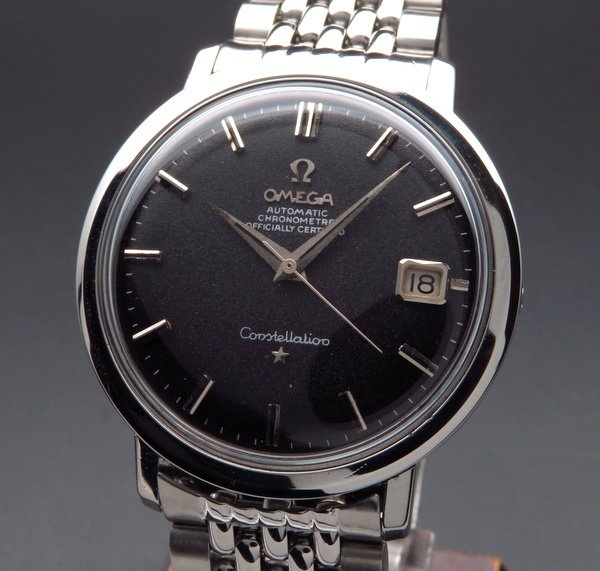 1960年 〜 1969年    1960年製 アンティーク オメガ コンステ Cal.561 ブラック ライスブレス【OH済】