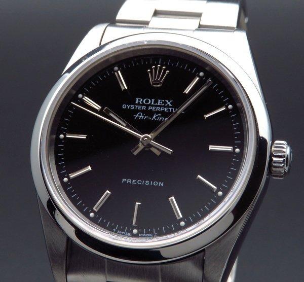 ロレックス - Antique Rolex -   1997年 ロレックス エアキング オートマ 14000 ブラック U番 生産中止モデル 【美品中古】【OH済】