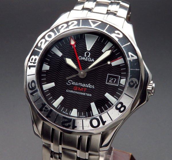200,001円 〜 300,000円  オメガ OMEGA シーマスター GMT 2234 50 50周年記念 メンズ 腕時計 デイト ブラック 中古 美品【OH済】