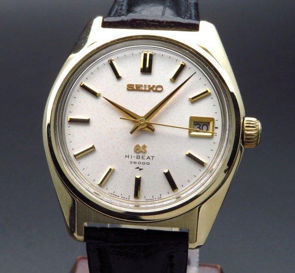 セイコー - Antique Seiko -   完売  1971年製 グランド セイコー アンティーク 4522-8000 ハイビート36000 希少 ゴールドキャップ 手巻 美品【OH済】