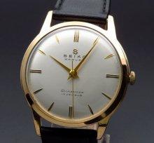 1958年製 アンティーク セイコー マーベル Sマーク 17石 手巻 ゴールドキャップ 36mm【OH済】