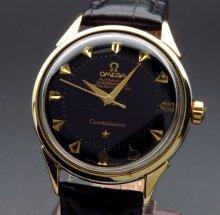 1958年 オメガ アンティーク CAL505 コンステ ゴールドキャップ クサビ【OH済】