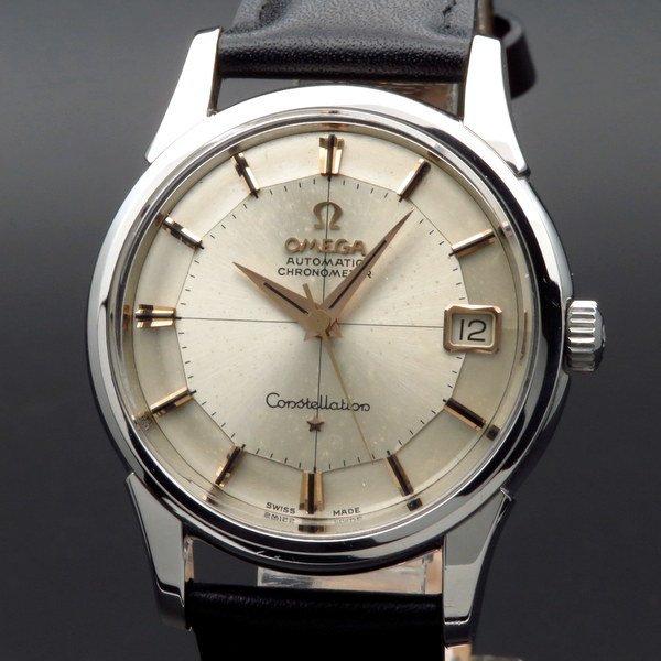 1962年 12角 アンティーク オメガ cal561 コンステレーション クロノ クロスライン【OH済】
