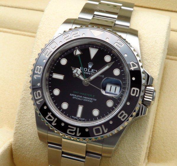即納品  現金特価【日本国内正規品】ロレックス ROLEX GMTマスター2 116710LN メンズ腕時計 ステンレス【中古】A品