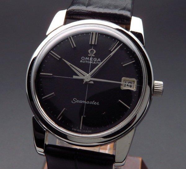 即納品  1963年 アンティーク オメガ シーマスター [日付] CAL562 クロス ブラック【OH済】