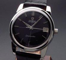 1963年 アンティーク オメガ シーマスター [日付] CAL562 クロス ブラック【OH済】