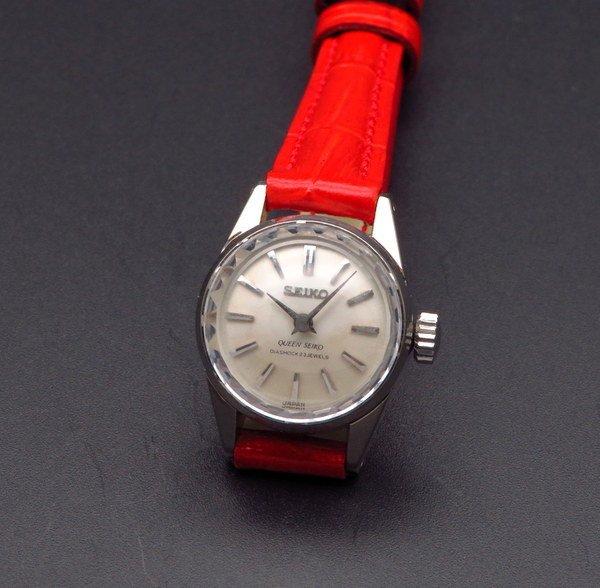 即納品   1965年 14KWG GF アンティーク 初期型 クィーン セイコー CAL1020C カクテル 手巻 王冠マーク 希少【OH済】