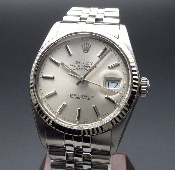 ロレックス - Antique Rolex -   1985年製 USED ロレックス デイトジャスト 16014 WGベゼル CAL3035 ヴィンテージ【OH済】