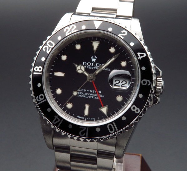 価格別   1996年 ブラックベゼル ロレックス 16700 GMTマスター T番 SS 中古【OH済】