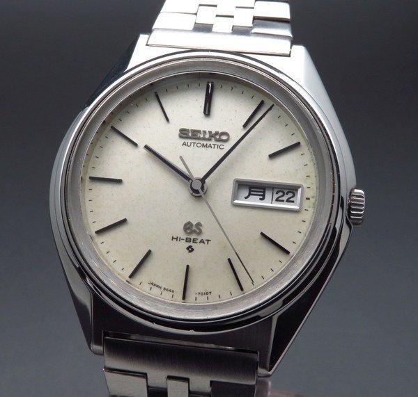セイコー - Antique Seiko -   売り切れ 1974年製 アンティーク グランド セイコー 5646-7011 56GS ハイビート GSブレス 新品仕上【OH済】