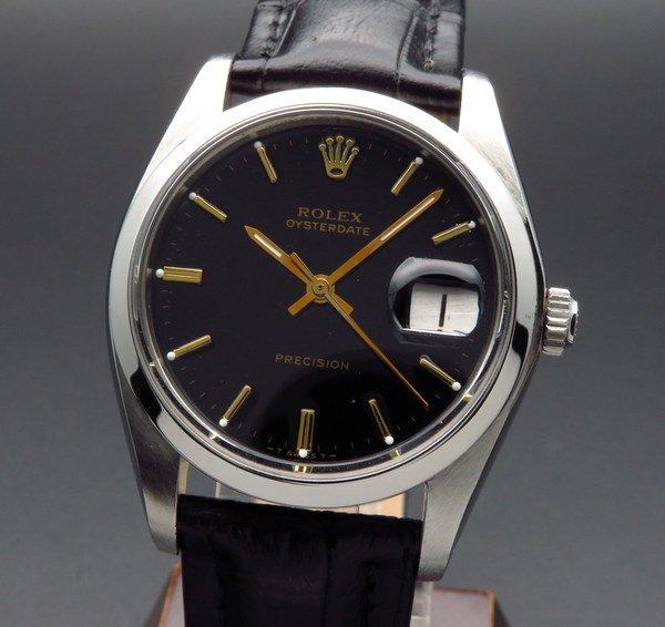 ロレックス - Antique Rolex -   1977年 アンティーク ロレックス オイスター ref6694 プレジション 日付 手巻 ブラック【OH済】
