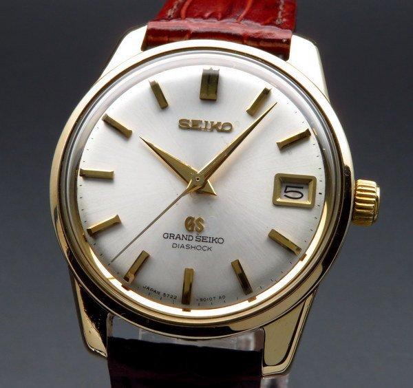 セイコー - Antique Seiko -   売り切れ 1966年製 グランドセイコー 5722-9010 アンティーク・獅子メダル ゴールドキャップ 希少【OH済】