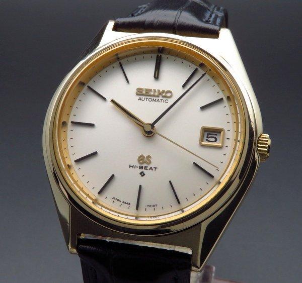 売切れ 1973年製 アンティーク グランド セイコー 5645-7010 56GS ハイビート ゴールドキャップ【OH済】 ヴィンテージ