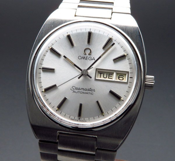 シーマスター  1981年 アンティーク オメガ シーマスター CAL.1020 デイデイト オメガブレス【OH済】