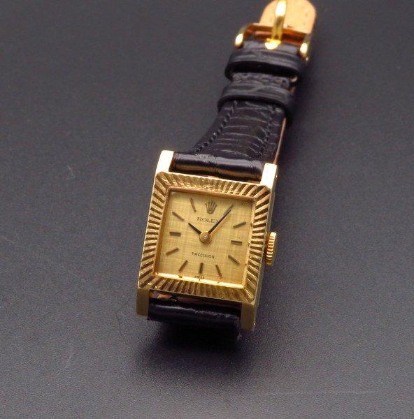 ロレックス - Antique Rolex -   1970年 K18金無垢 ロレックス アンティーク cal1400 プレジション 手巻 レディース 【OH済】