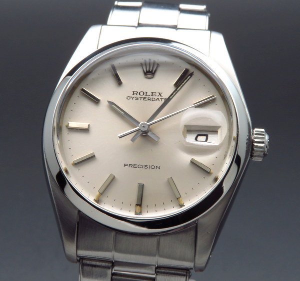 ロレックス - Antique Rolex -   1977年 アンティーク ロレックス オイスター ref6694 プレジション 日付 手巻 リベット 出べそ ヴィンテージ【OH済】