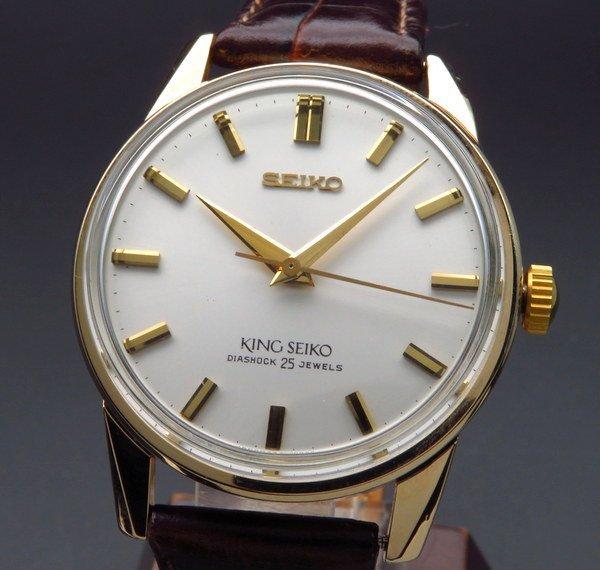 セイコー - Antique Seiko -   売り切れ 1966年 アンティーク キングセイコー 44-2000 セカンド AGF 手巻き 盾マーク 廃盤【OH済】