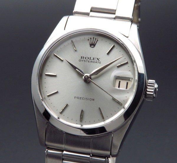 ロレックス - Antique Rolex -   完売 1963年 アンティーク ロレックス オイスター デイト ref6466 手巻 ボーイズ 出べそ リベット 男女兼用 ヴィンテージ【OH済】