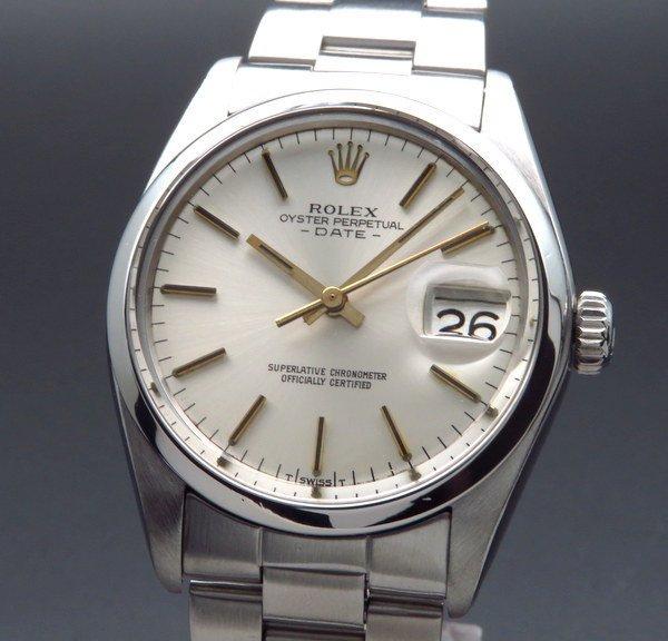 ロレックス - Antique Rolex -   1978年 ロレックス SS オイスターパーペチュアルデイト ref1500 金色インデックス【OH済】