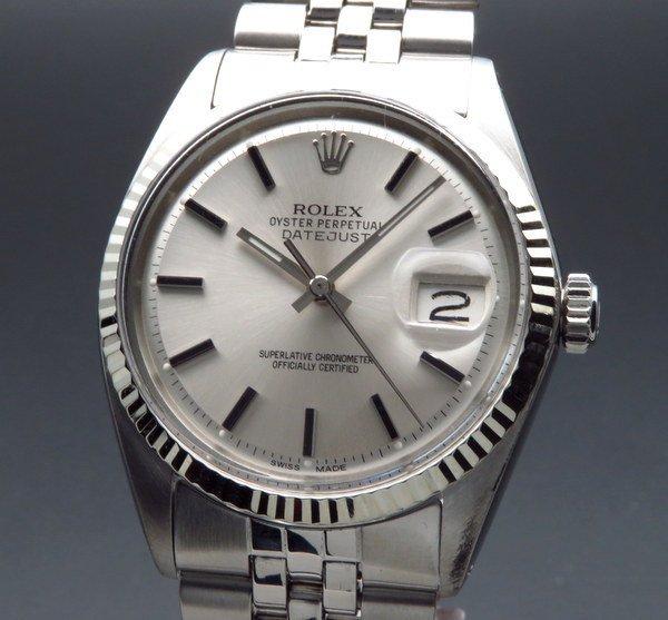 ロレックス - Antique Rolex -    1969年 アンティーク ロレックス デイトジャスト ref1601 WGベゼル cal1570 巻きブレス ヴィンテージ【OH済】