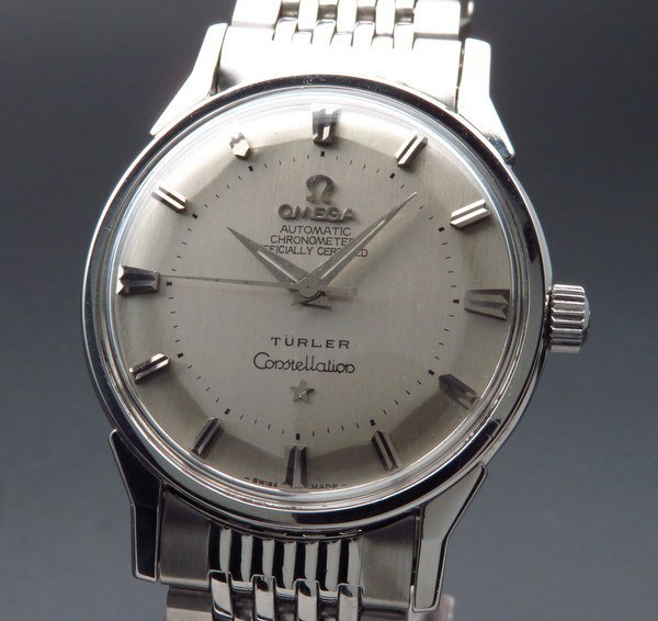 オメガ - Antique Omega -    売り切れ 1962年 12角 アンティーク オメガ cal551 コンステレーション クロノ オメガブレス TURLER ヴィンテージ【OH済】