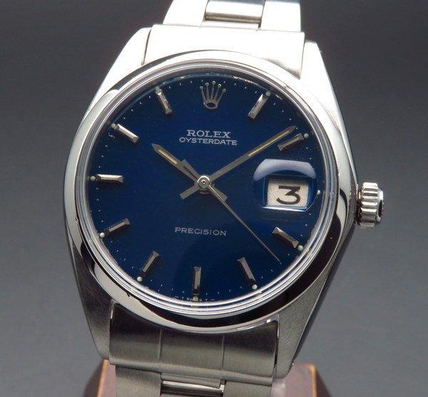 ロレックス - Antique Rolex -   売切れ 1967年 ロレックス アンティーク ref6694 オイスターデイト 手巻 ブルー 日付【OH済】