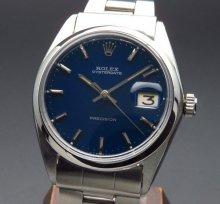 売切れ 1967年 ロレックス アンティーク ref6694 オイスターデイト 手巻 ブルー 日付【OH済】