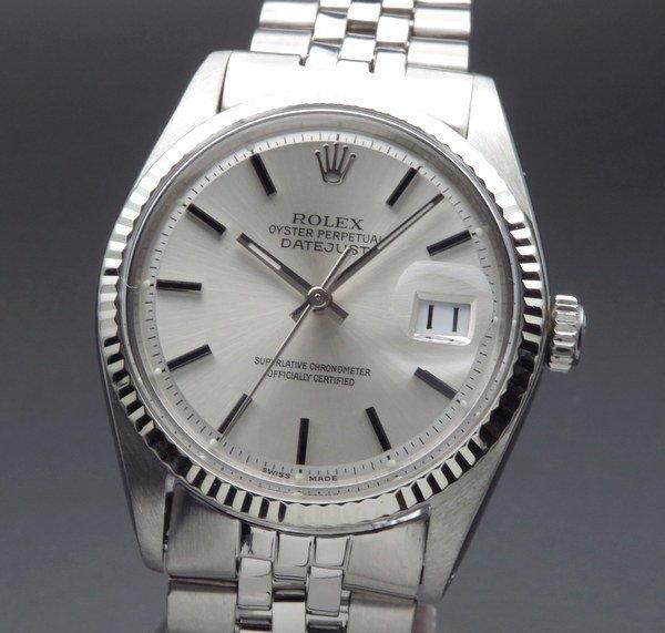 ロレックス - Antique Rolex -   完売 1968年 アンティーク ロレックス デイトジャスト ref1601 WGベゼル cal1570 出べそバックル ヴィンテージ【OH済】