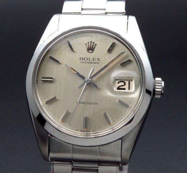ロレックス - Antique Rolex -   1966年 ロレックス アンティーク ref6694 オイスターデイト 手巻 リベット 出べそヴィンテージ【OH済】