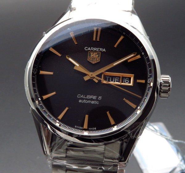 即納品   タグホイヤー カレラ キャリバー5 デイデイト WAR201C.BA0723 TAGHEUER 腕時計【未使用品】